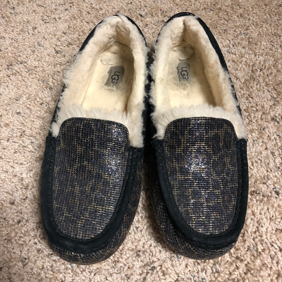 ef276ca94c7 Ugg Sparkle Animal Print Ansley slipper